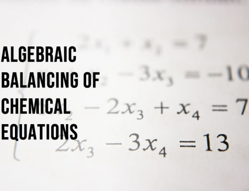 Balancing chemical equations using algebra